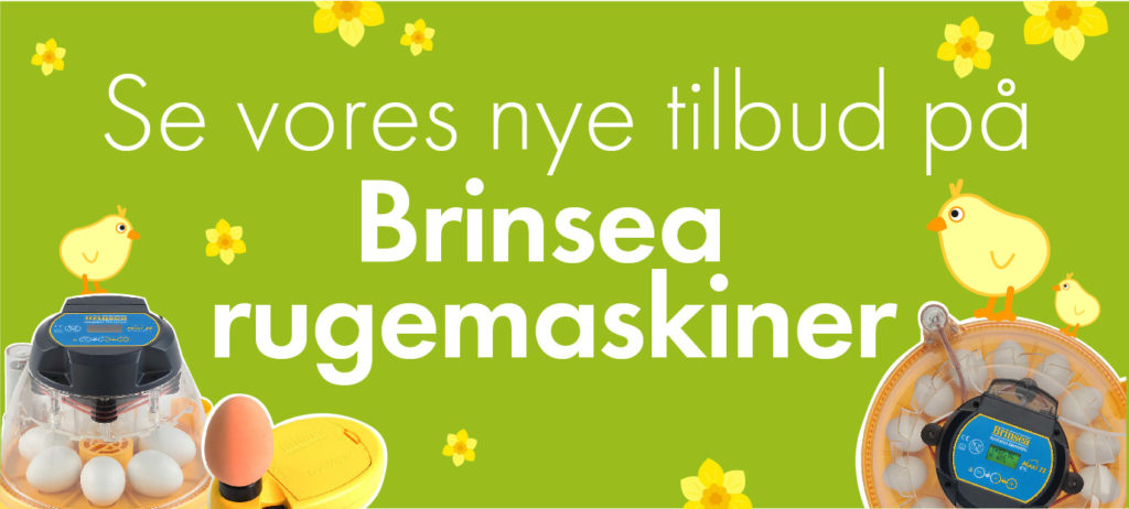 Se vores nye tilbud på Brinsea rugemaskiner!