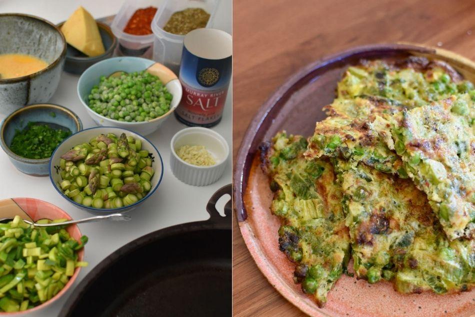 Hvordan laver man asparges omelet